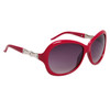 Ladies Rhinestone Sunglasses DI122 Magenta Frame Color
