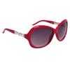 Ladies Rhinestone Sunglasses DI122 Magenta Frame Color