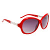 Ladies Rhinestone Sunglasses DI122 Red Frame Color