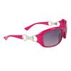 DE102 Women's Wholesale Fashion Sunglasses Magenta Frame Color