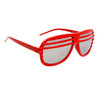 Mirrored Lens Shutter Shades 515 Red Frame Color