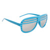 Mirrored Lens Shutter Shades 515 Blue Frame Color