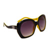 Vintage Big Lens Designer Eyewear DE104 | Two Toned Black & Yellow Frame Colors