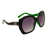 Vintage Big Lens Designer Eyewear DE104 | Two Toned Black & Green Frame Colors