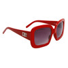 Designer Eyewear Fashion Sunglasses DE107 Red Frame Color