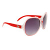 Wholesale Designer Sunglasses - DE67 Red/Clear