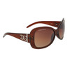 Fashion Sunglasses DE80 Brown Frame