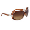 Wholesale Fashion Sunglasses 24016 Transparent Brown Frame Color