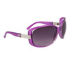 Wholesale Fashion Sunglasses 24016 Transparent Purple Frame Color