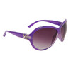 Fancy Fashion Sunglasses 24614 Gloss Lavender Frame Color w/Silver Accents