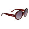 DE549 Vintage Women's Sunglasses Dark Red Frames