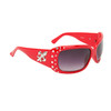 Wholesale Sunglasses Fleur de Lis & Rhinestones 20617 Red Frame Color