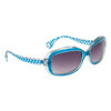 #22414 Women's Fashion Sunglasses Transparent Frame w/Blue Accents