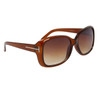 Fashion Wholesale Sunglasses 24313 Transparent Brown Frame Color