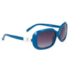 #22313 Fashion Sunglasses Blue Frame Color