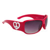 Cute Fashion Sunglasses w/Heart Shaped Peace Signs 23713 Red Frame w/White Heart