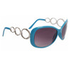Designer Sunglasses Wholesale 24716 Gloss Turquoise Frame Color w/Silver