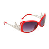 Wholesale Fashion Sunglasses Light Silver Fleur de Lis 20518 Red Frame Color