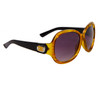 Stylish Fashion Sunglasses Wholesale DE85 Black & Transparent Yellow Frame