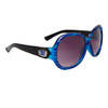 Stylish Fashion Sunglasses Wholesale DE85 Black & Transparent Blue Frame