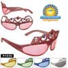 Tiara Sunglasses with Rhinestones and Glitter