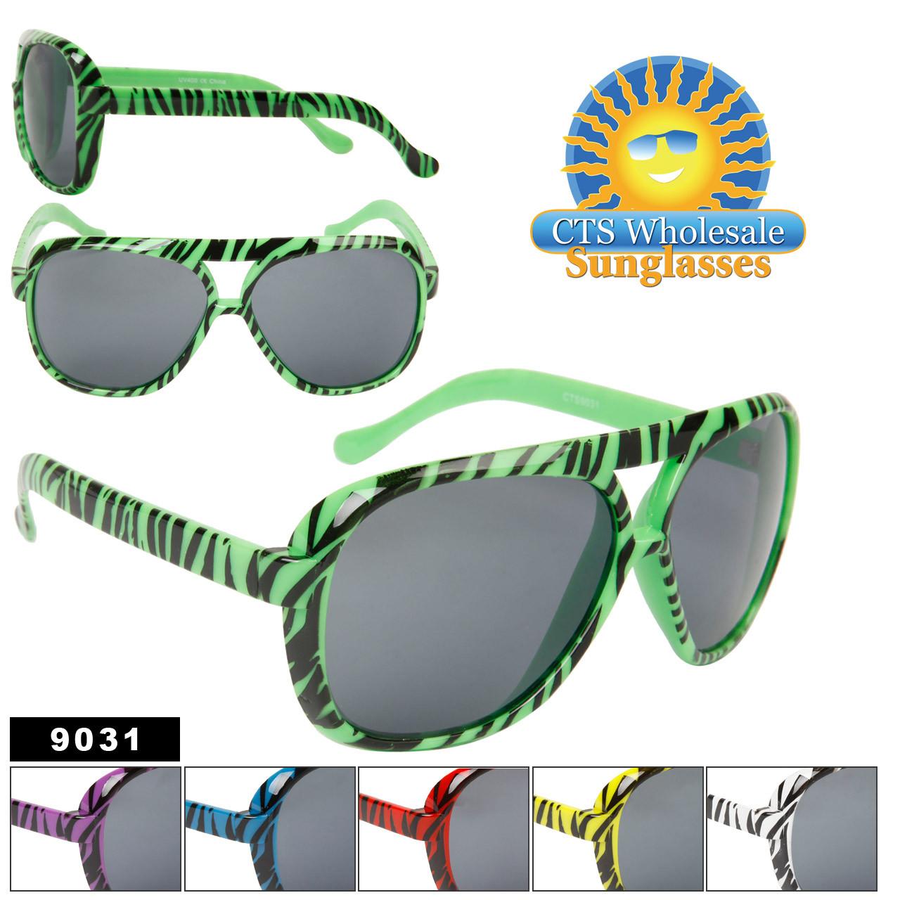 Sunglasses Aviators 9031Zebra Plastic PrintCts Wholesale nOP80wkX