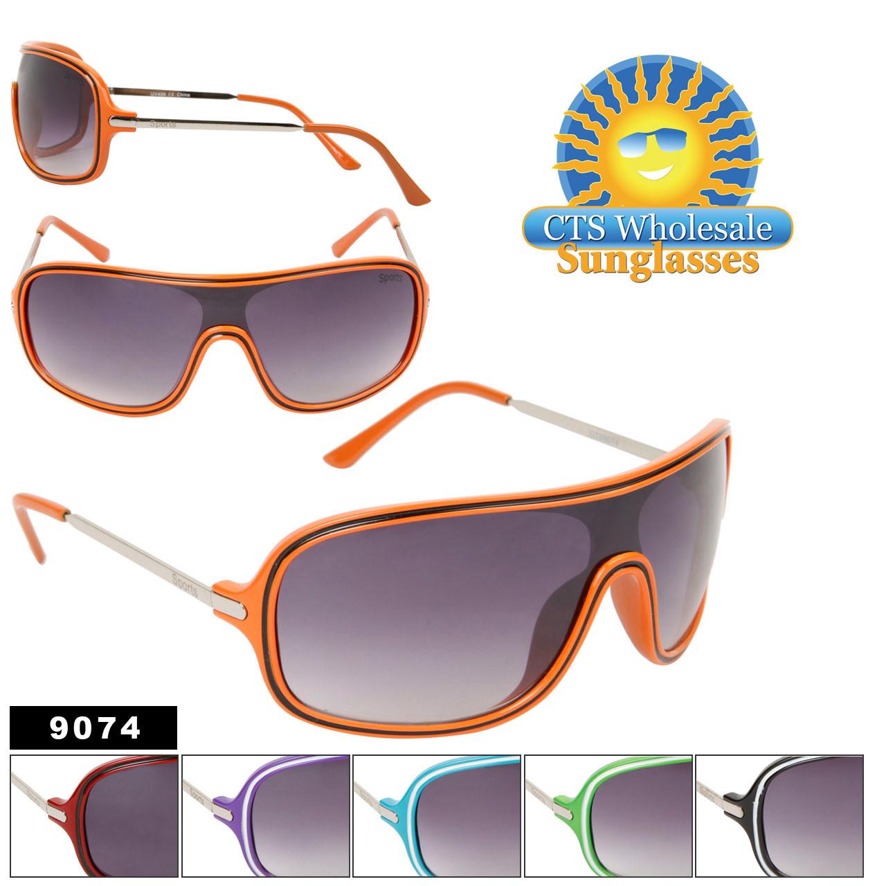 Stylish One Piece Unisex Sunglasses 9074