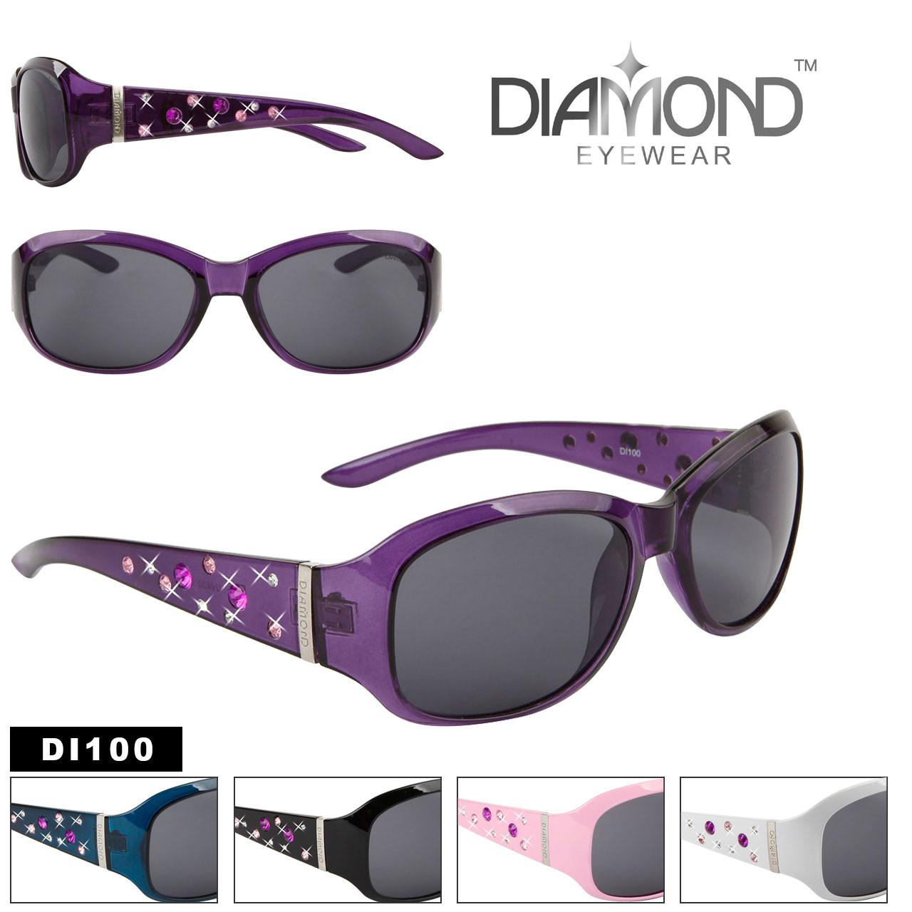 Diamond™ Eyewear Bulk Rhinestone Sunglasses - Style #DI100