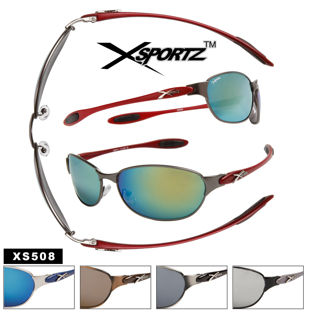 XS508 Metal Sport Sunglasses