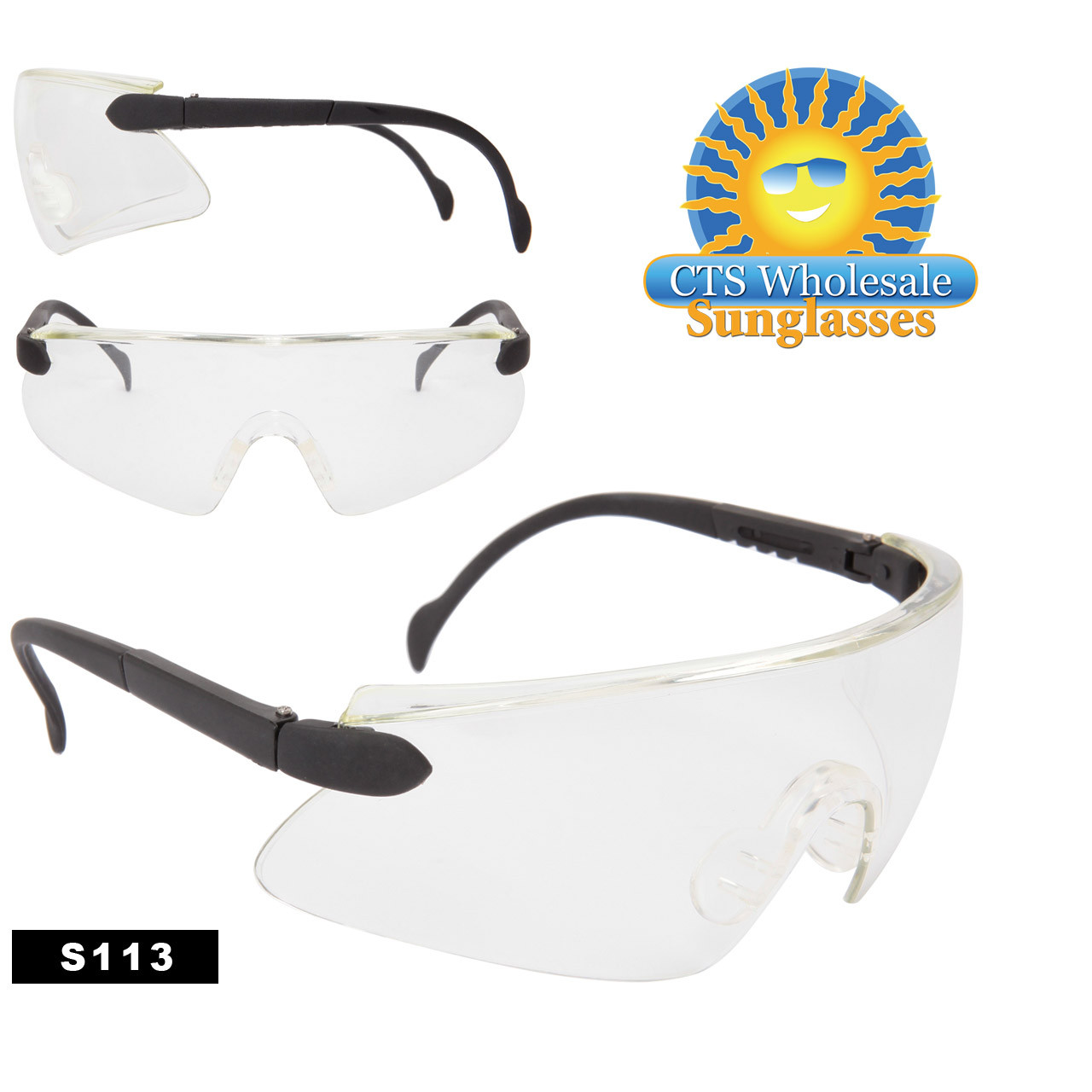 Clear Safety Glasses S113