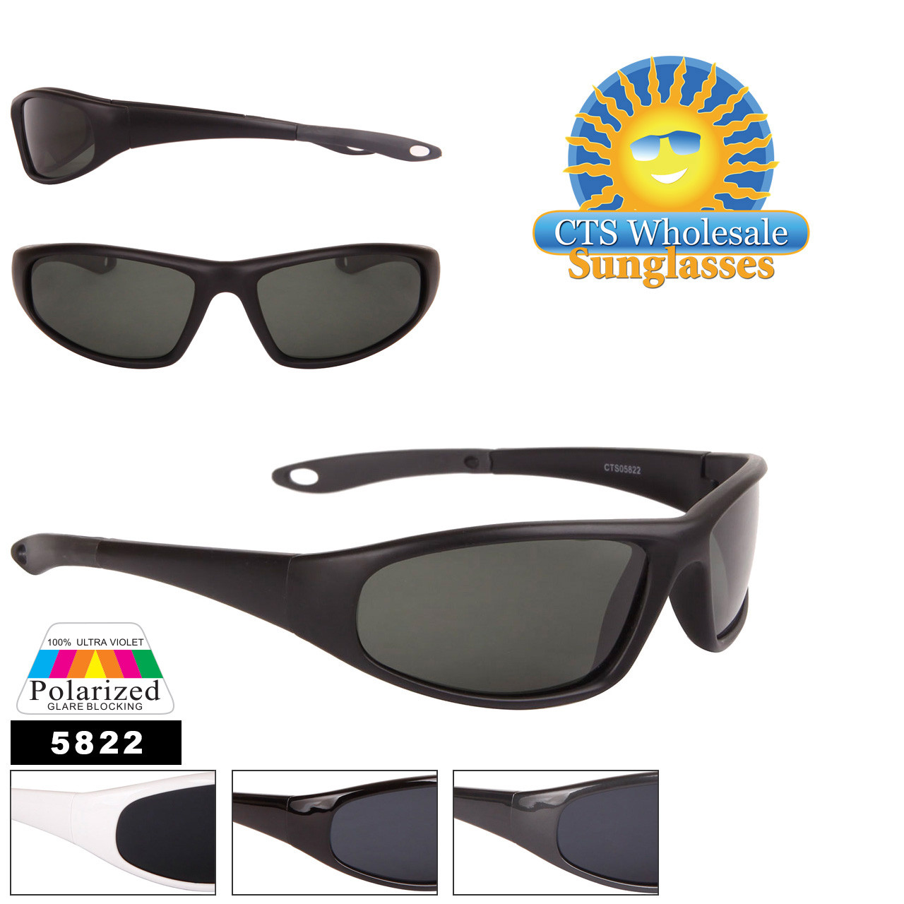 Wholesale Polarized Sunglasses - Style #5822