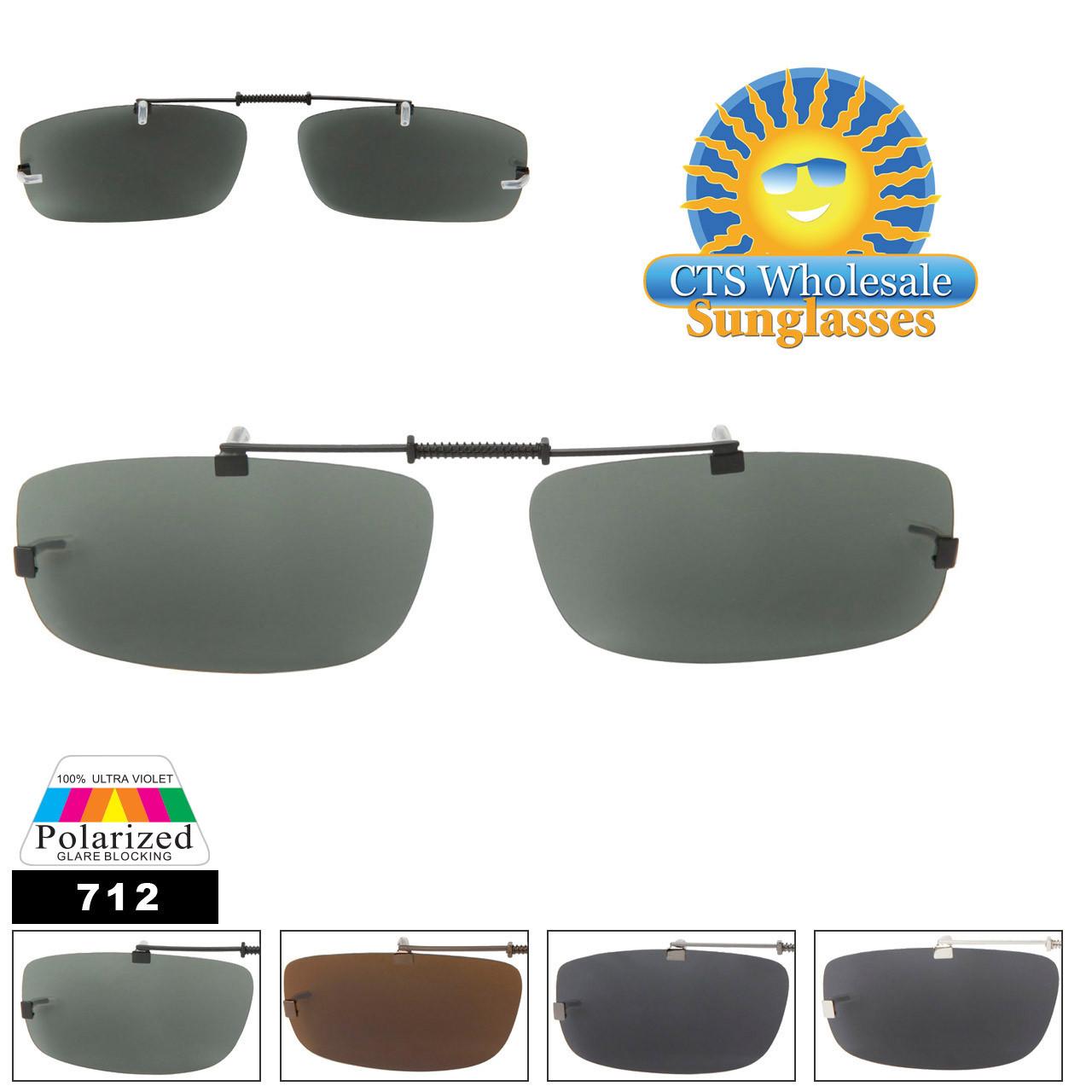 #712 Clip On Sunglasses Wholesale