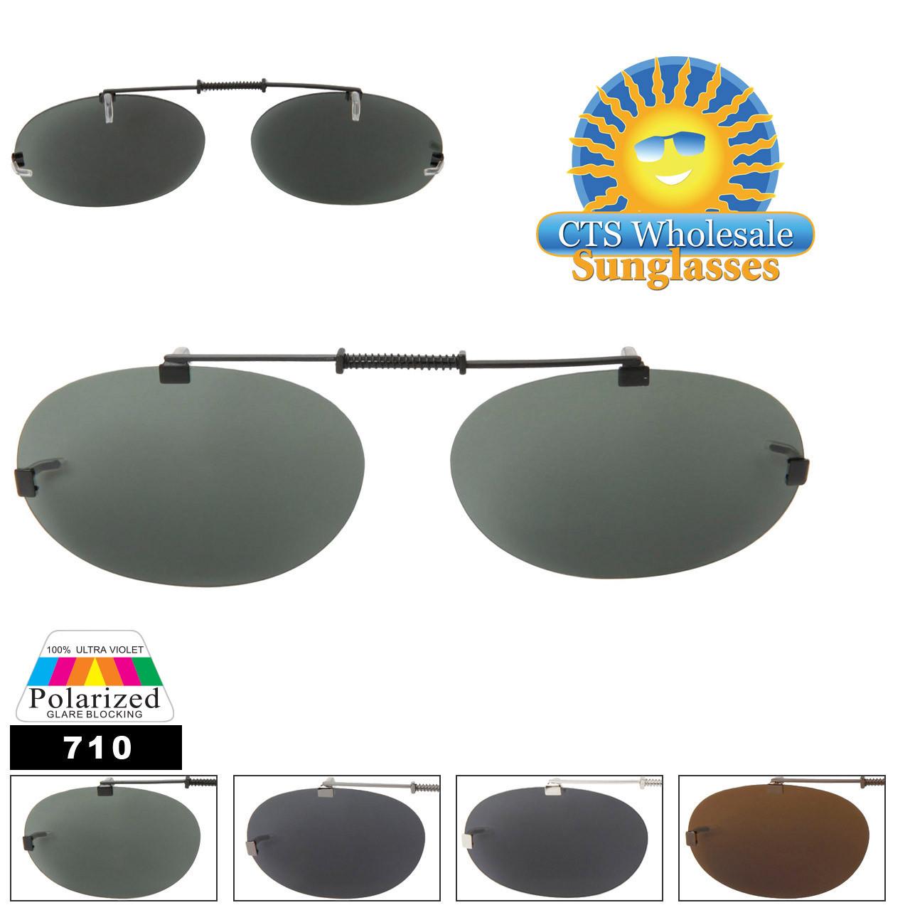 #710 Polarized Clip On Sunglasses
