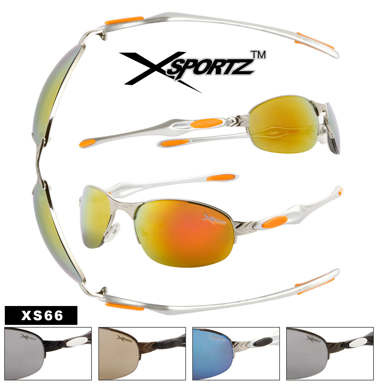 Men's Bulk Sports Sunglasses - Style #XS66