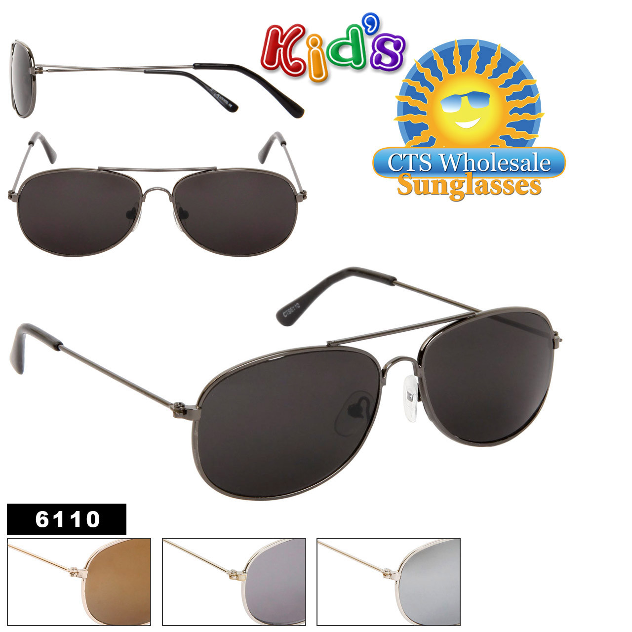 Kid's Aviator Sunglasses 6110