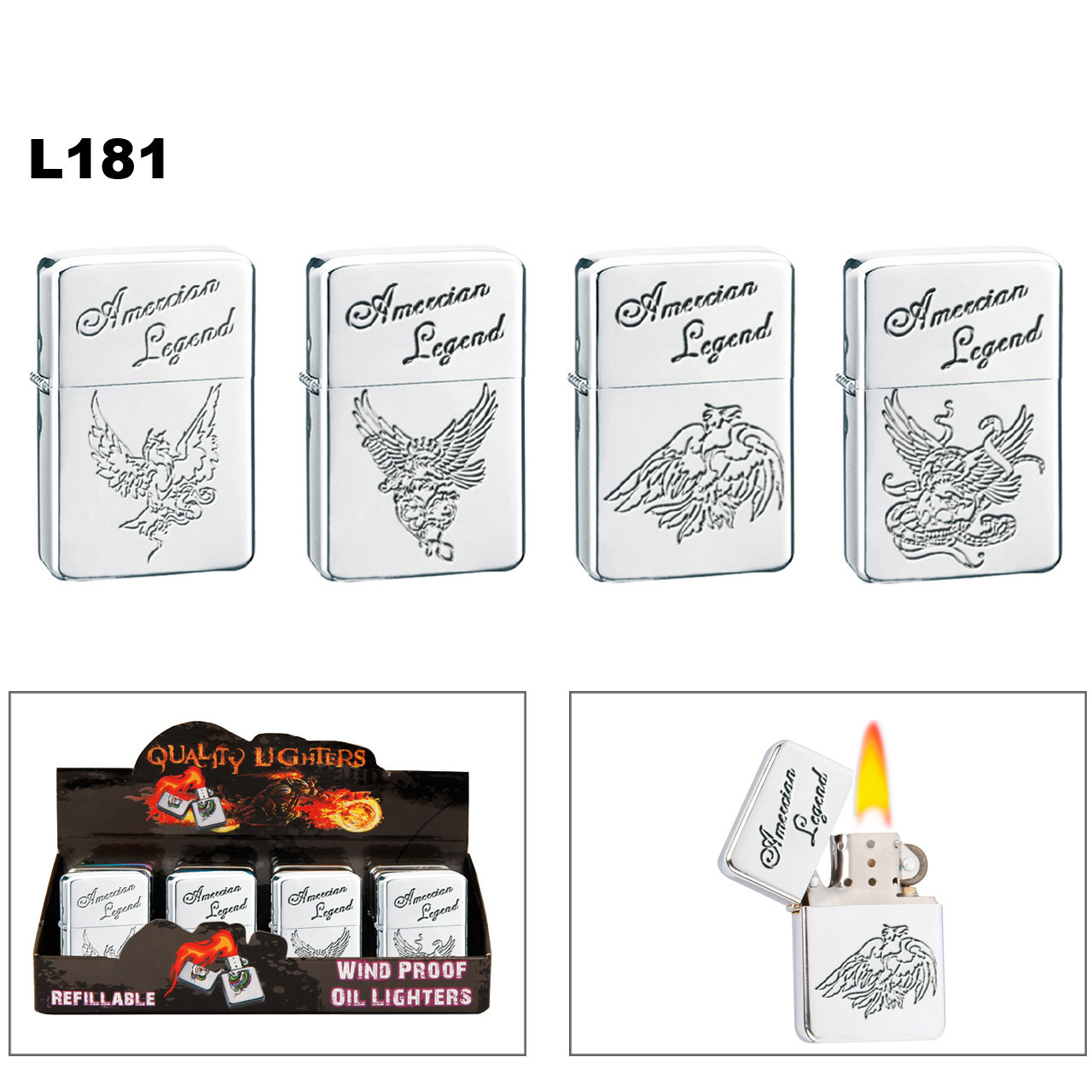 """American Legend"" Lighters L181"