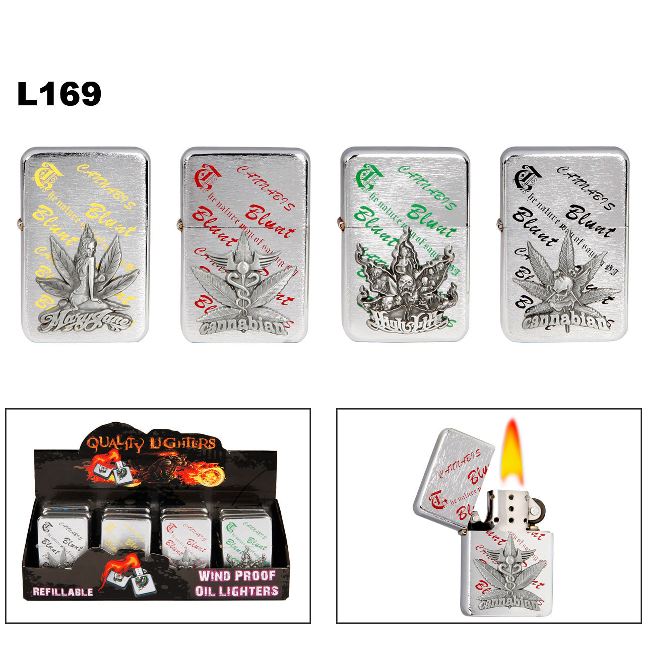 Assorted Marijuana Lighters L169
