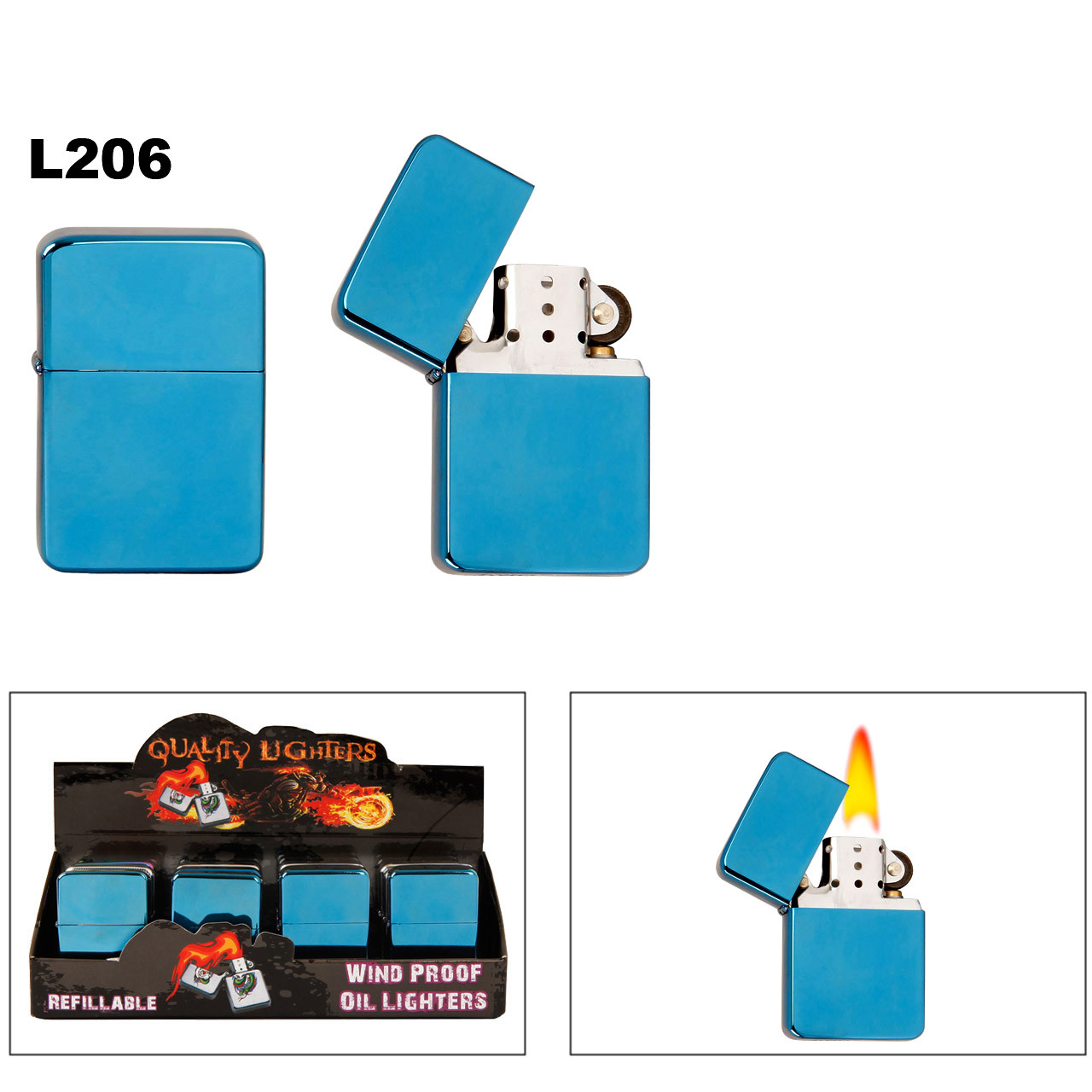 Metallic Blue Lighters L206