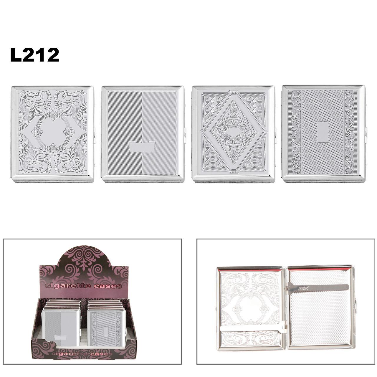 Polished Chrome Cigarette Cases L212