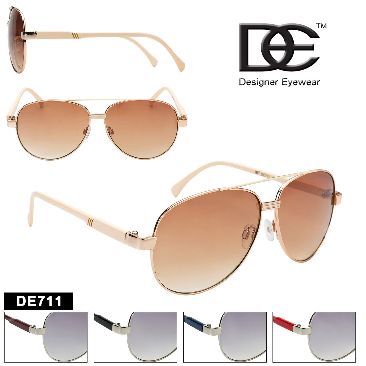 DE™ Aviator Sunglasses by the Dozen - Style #DE711