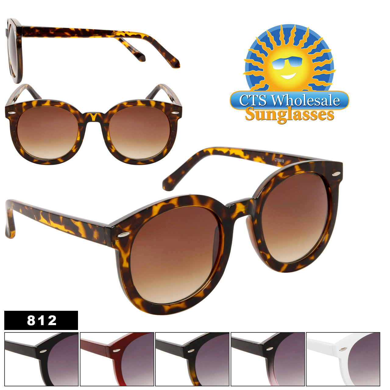 Round Fashion Sunglasses 812