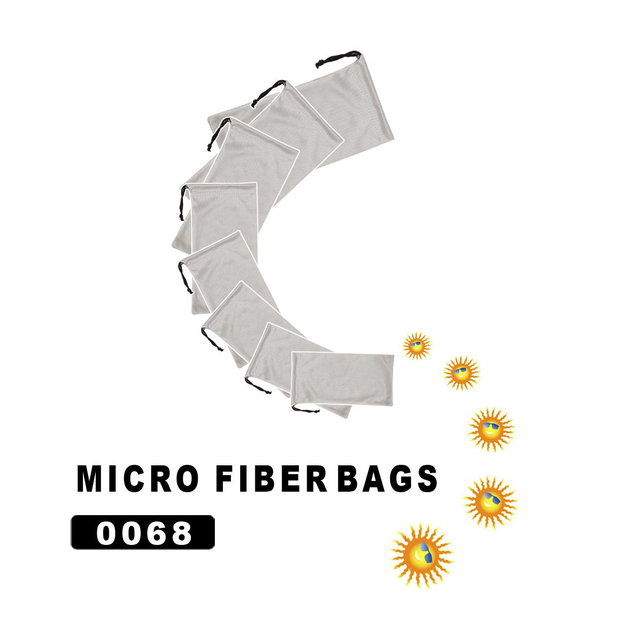 Silver Microfiber Sunglasses Storage Bags 0068
