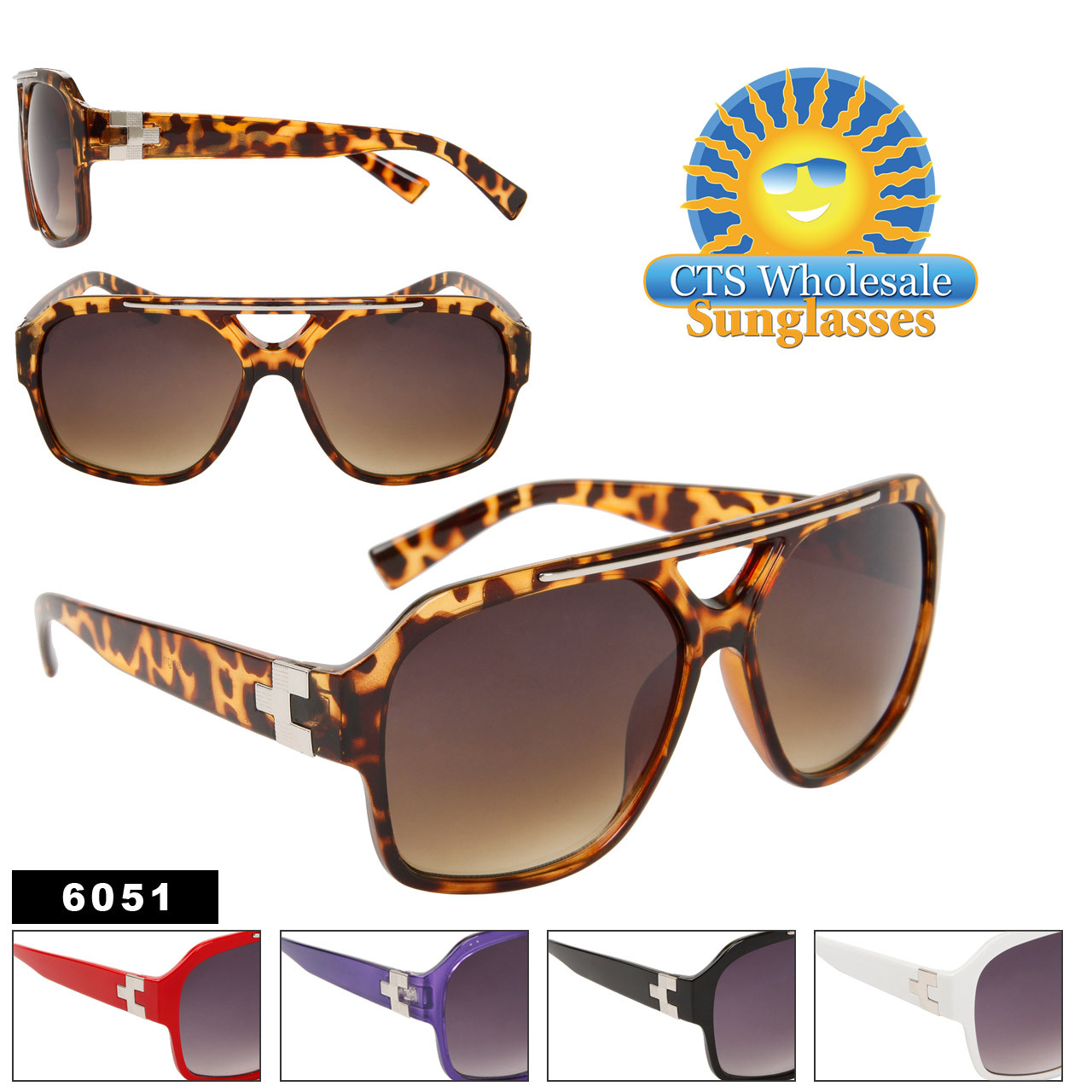 Wholesale Unisex Sunglasses 6051