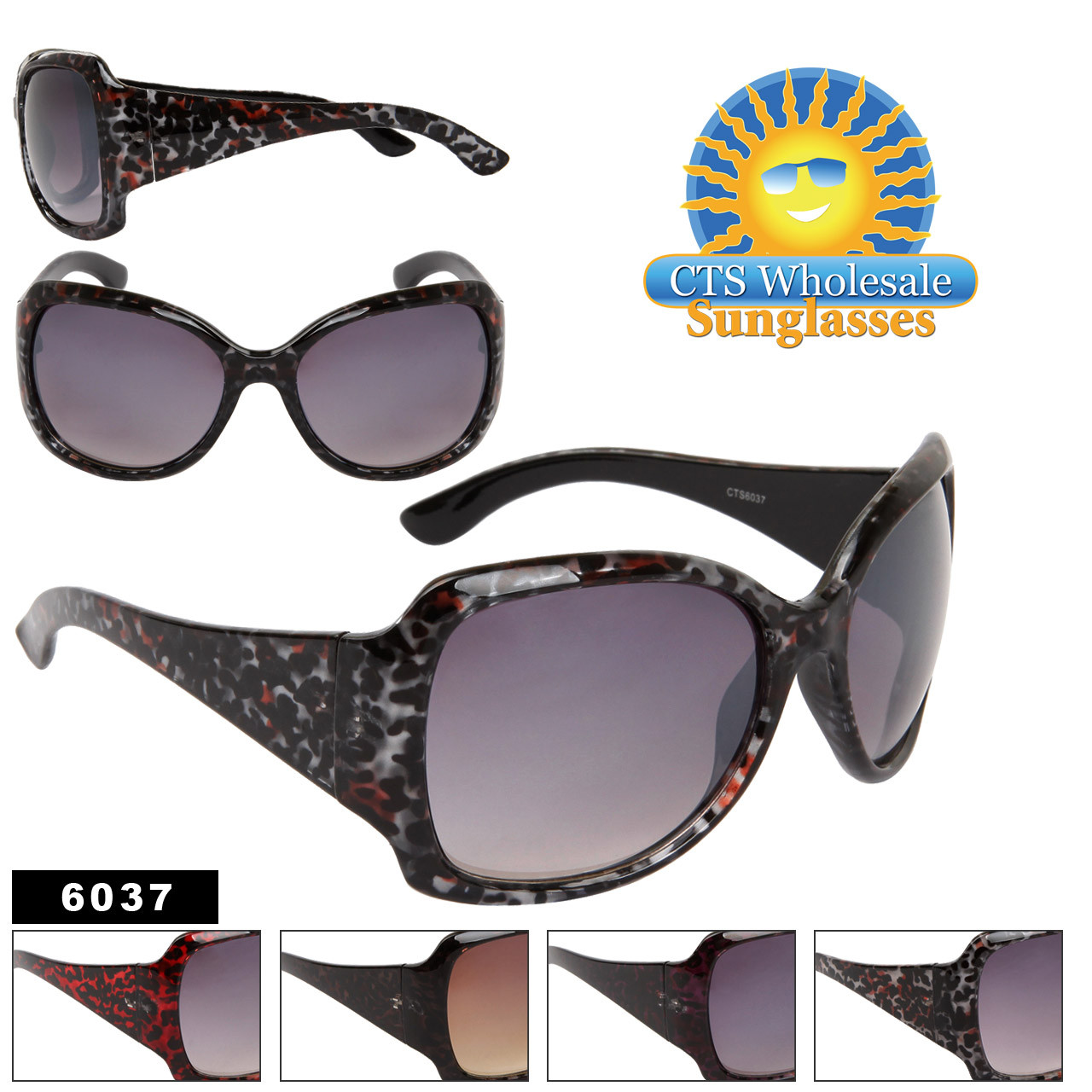 Women's Animal Print Sunglasses 6037