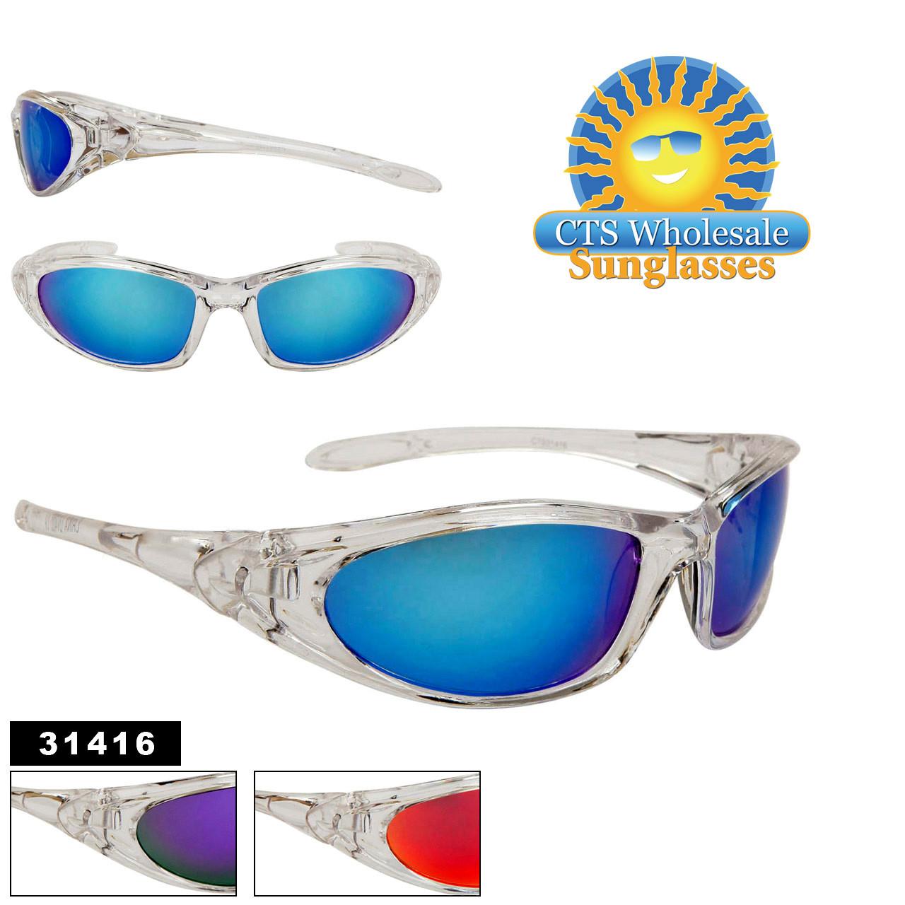 Clear Frame Sports Sunglasses 31416