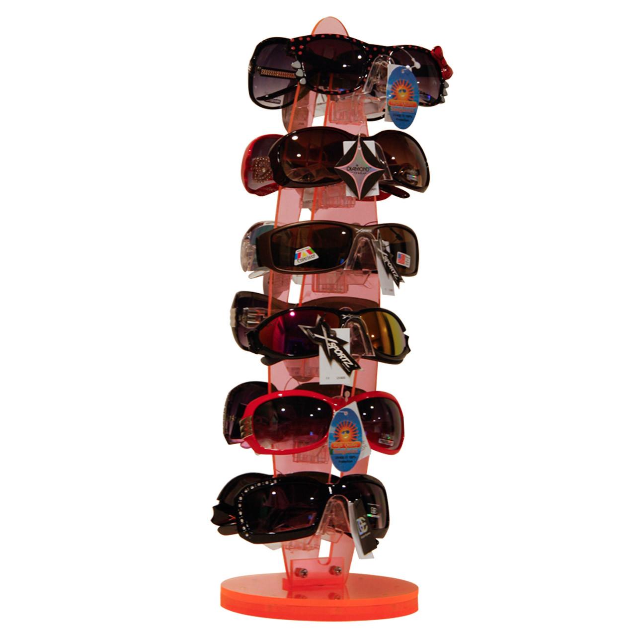 7036 Transparent Orange Sunglass Display