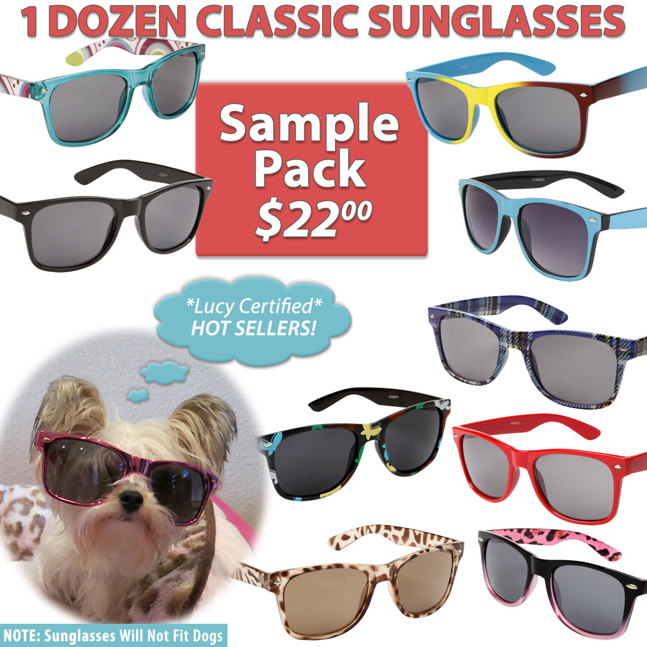 Sample Pack California Classics Sunglasses SPWAY