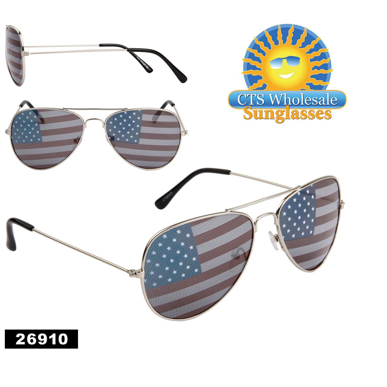 5eb2d49ce44 American Flag Aviator Sunglasses