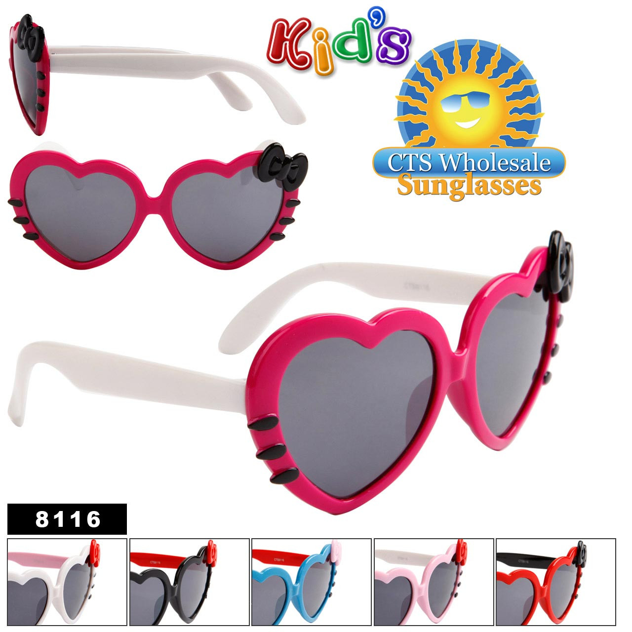 Girl's Heart Sunglasses # 8116