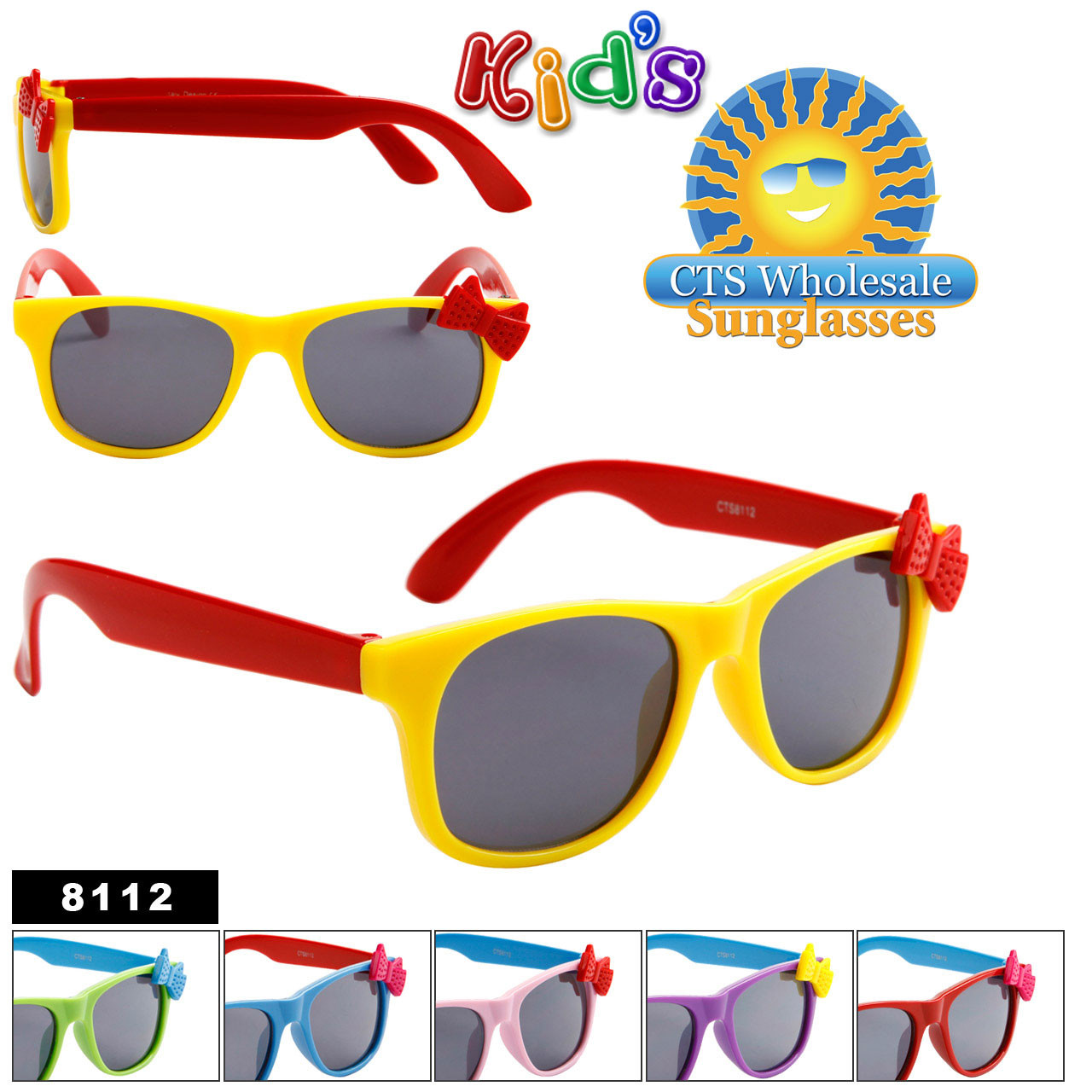 Kid's California Classics Sunglasses with Bows 8112